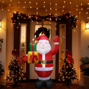Image 5 - OurWarm Inflatable Santa Claus Night Light Figure Outdoor Garden Toys Christmas Party Decorations New Year 2019 150cm US EU Plug