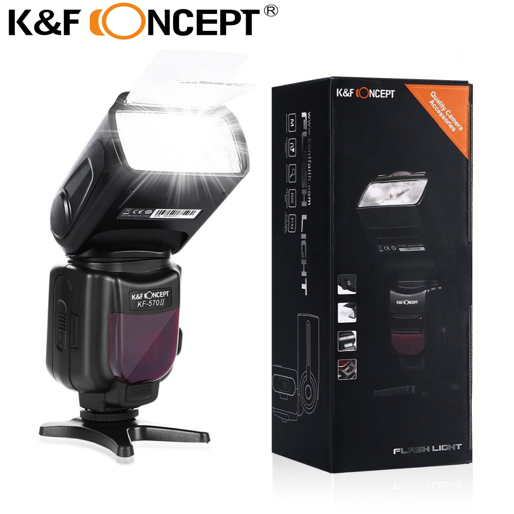 K&F CONCEPT KF-570II GN54 High Flash Speedlite for Nikon D3000 D300 for Canon EOS 60D 70D 450D 550D 600D 650D 1100D T5i T4i T3i сумка для видеокамеры cst 2015 canon dslr eos 1000d 1100d 600d 550d 60d 450d 40d 7d 5d rebel t2i t3i 4 t5i 250068