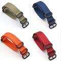 2017 Military Nylon Belt Strap Watch Band Wrist Watch Strap Watchband Wristwatch  Solid Color Black Buckle 18mm 20mm 22mm 24mm