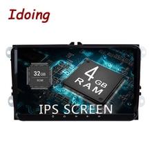 Idoing 9″2Din Car Radio GPS Multimedia Player Android8.0 For VW Skoda Seat IPS Screen 4G+32G Octa Core Navigation Steering-Wheel