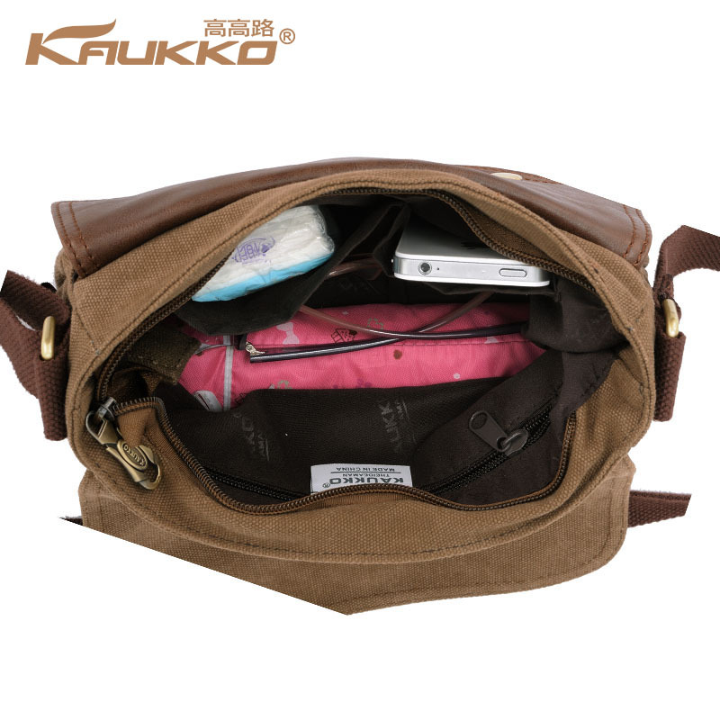 cd0d6481c9 Kaukko Canvas Bag Women s Men s Messenger Bag School Bag Crossbody shoulder  Bag Vintage Casual Style-in Crossbody Bags from Luggage   Bags on  Aliexpress.com ...