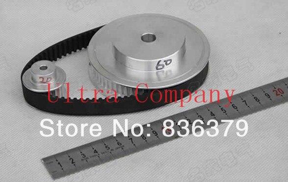 Timing Belt Pulleys /Synchronous belt deceleration suite 3M (8:1) CNC Engraving Machine Parts xl 1 4 timing belt pulleys teeth 15 60 timing belt deceleration suite xl 4 1 cnc engraving machine parts synchronous pulley