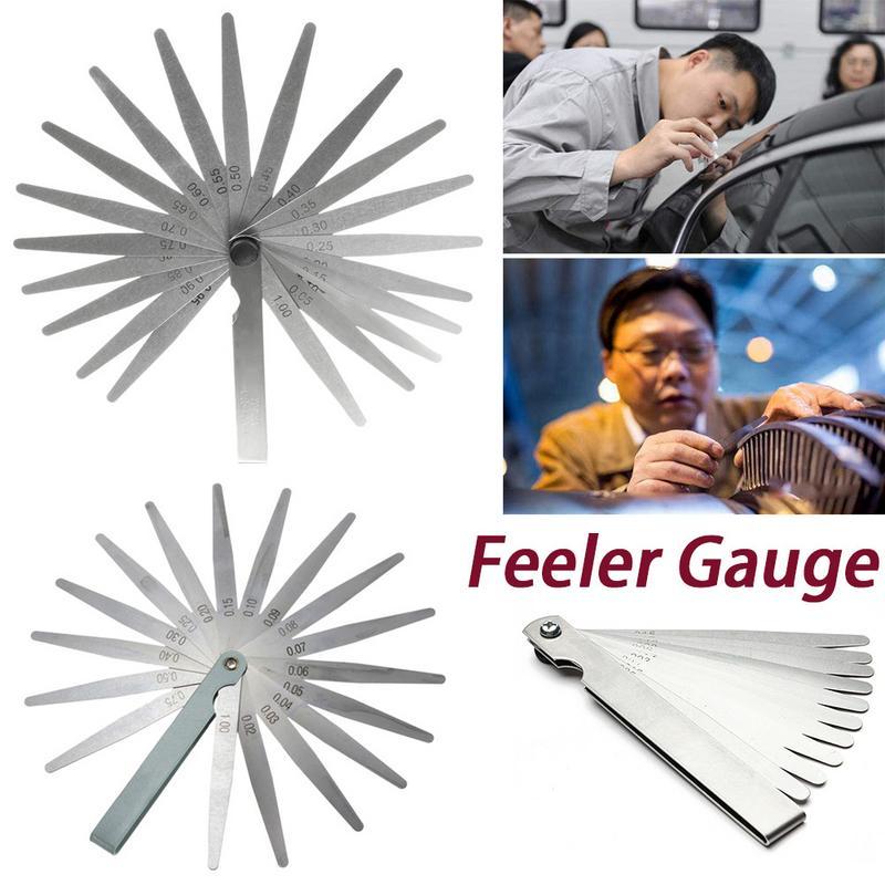 1 Set Length Metric Feeler Gauge 17/20 Blade Gap Filler 0.02-1.00MM Thickness Measurement Layout Tool