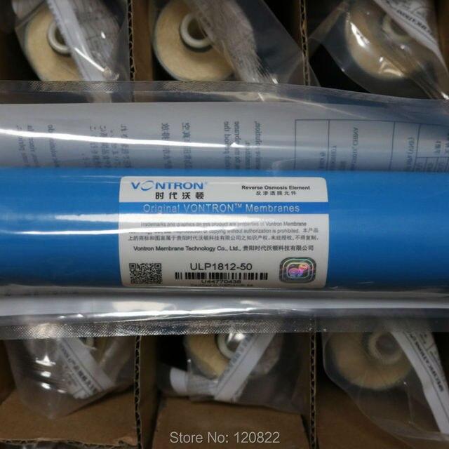 Vontron ULP1812 50 RO membran elemanı NSF ters osmoz sistemi 50gpd su filtresi kartuşu 25 adet/ctn