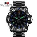 Carnival tritium luminous men quartz watches waterproof 200m dive military sports full steel luxury brand watch big dial relogio
