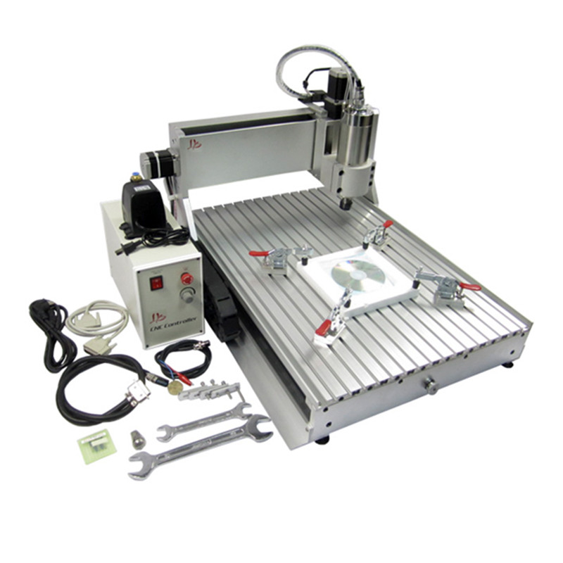 LY CNC Router 6040Z-VFD 1500W water cooling spindle with Ball screw and limit switch for metal engrvaing