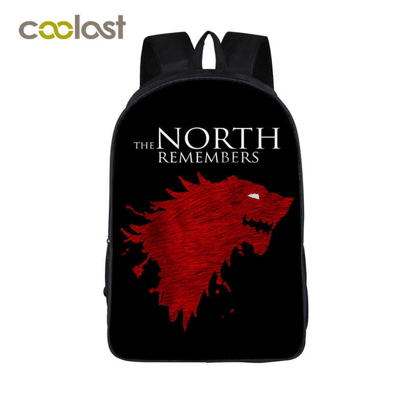 Game Of Throne Backpack For Teenagers Winter Is Coming Women Backpack Laptop Mochila Crowns Girls Boys School Bags Children Bag