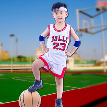 boys sports clothes basketball sets shorts sleeve o-neck t shirt +shorts cotton print letter white/red 2018 summer children