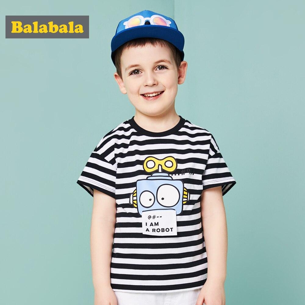 Balabala 2018 Sommer Kinder T-shirt Jungen Kleidung Kinder T-shirt Enfant Casual T-shirt Kleinkind Mode Halbe Hülse T-shirt