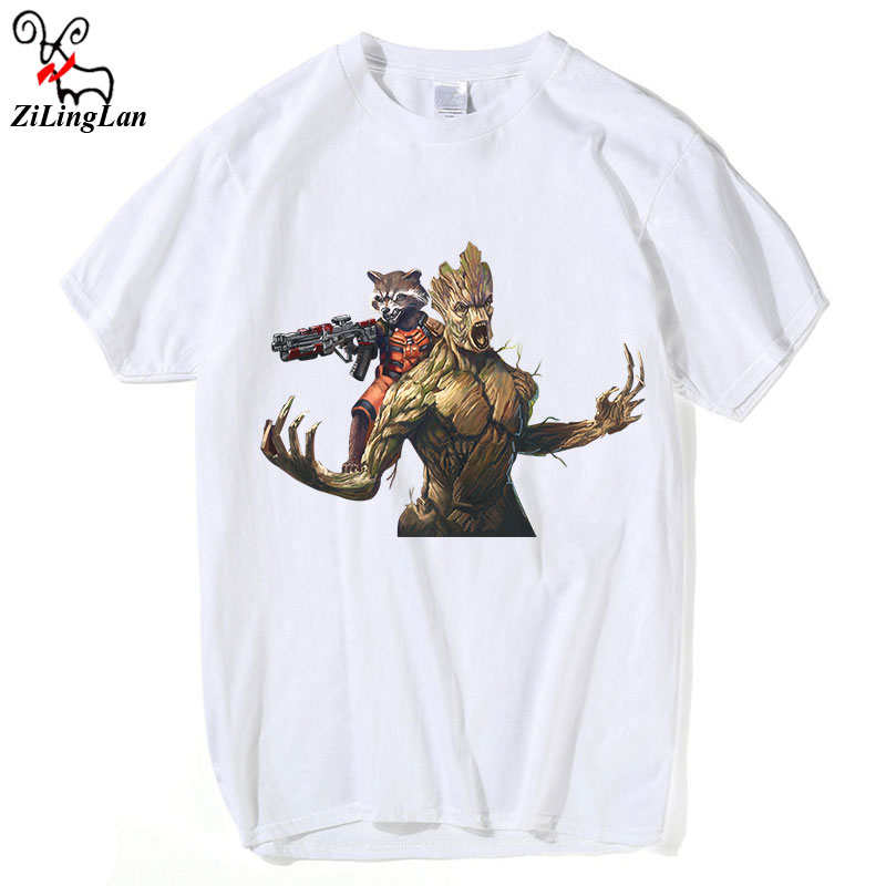43fde548d ZiLingLan Groot T Shirt Children Funny Printed Tees Vintage Style Guardians  Of The Galaxy Kids Tee Shirt Short Sleeves