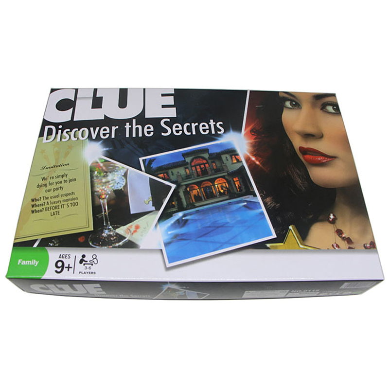 Classic Educational Board Game Detective Game Card Portable Version To Promote The Best Gift Of Intellectual Development