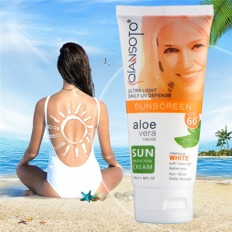 Sunscreen Cream Replenishment Moisturizing Aloe Vera Gel Shrink Pores Sunburn Sun Care Exfoliating Shrink Pores Firming 1pcs