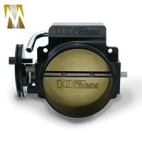 Black CNC Billet Aluminum 102mm Throttle Body For LS1 LS2 LS3 LS6 LSX TB1021S Car modification Parts Silver Color