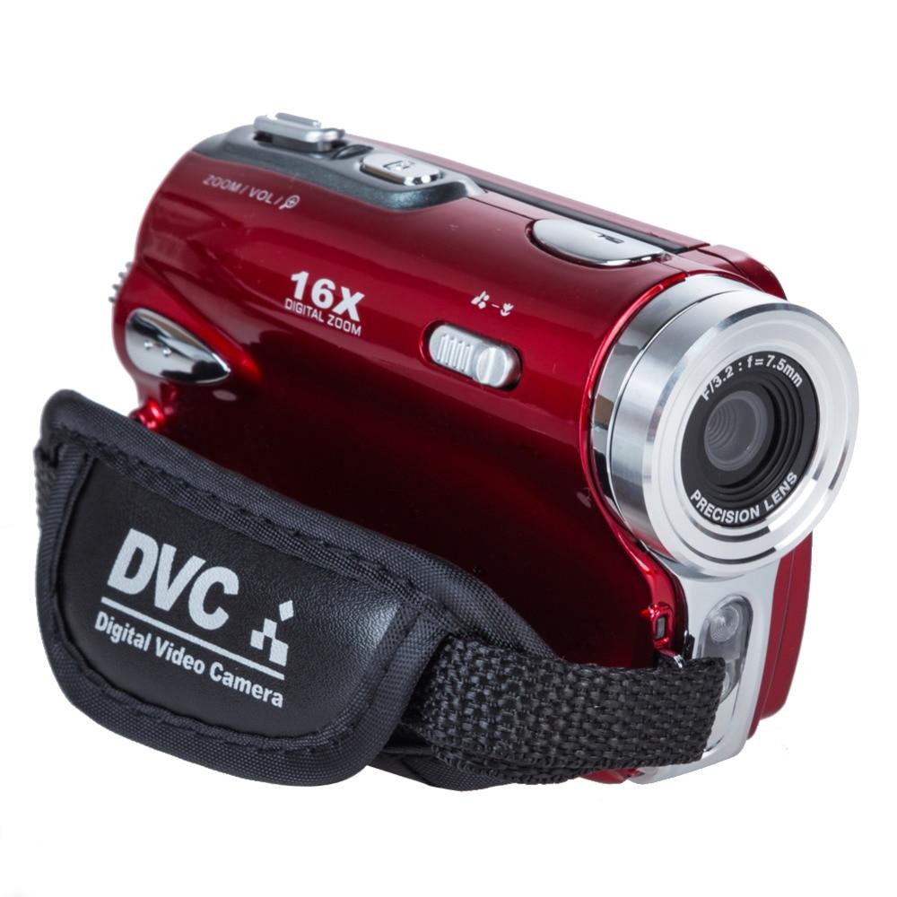 ФОТО 2015 Popular Travel Portable 20MP 16x Zoom Digital Video Camera Electronic Anti-Shaking Camcorder DV Red