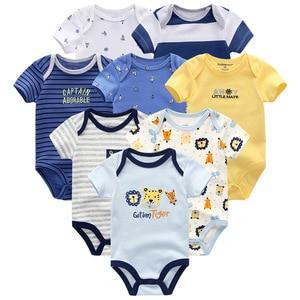 Image 2 - Baby Kleidung 8 Teile/lose Unisex Neugeborenen Jungen & Mädchen Strampler roupas de bebes Baumwolle Baby Kleinkind Overalls Kurzarm Baby kleidung
