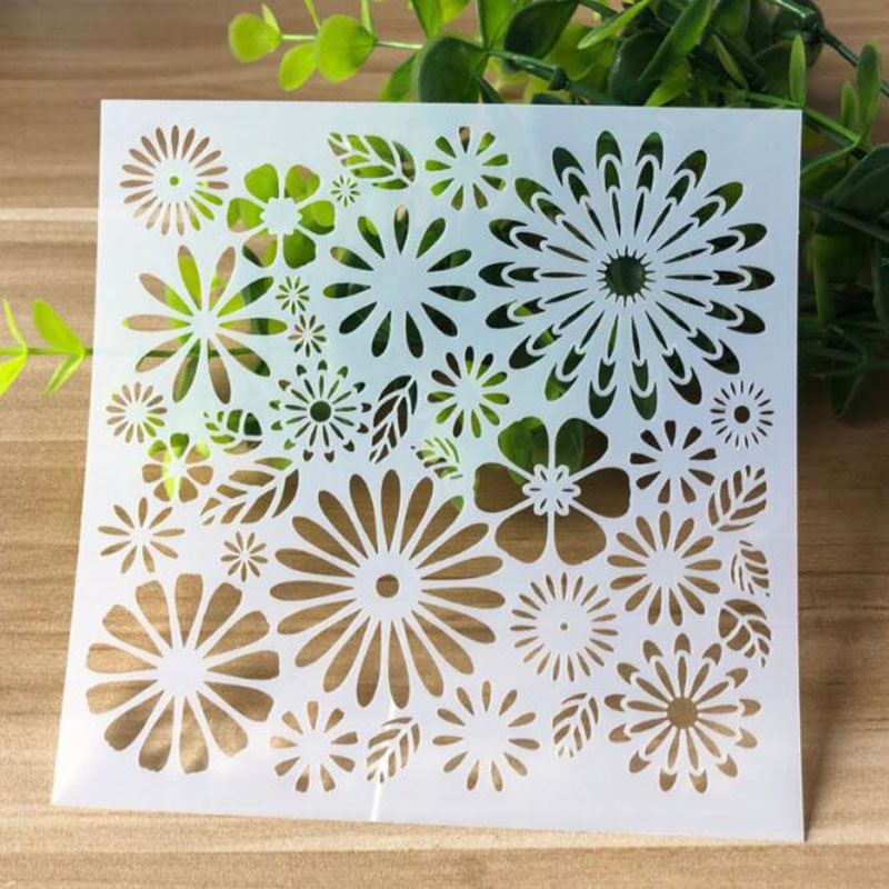 Stencils Flower Drawing Scrapbooking Photo Album Decorative Embossing Bullet Journal Stencils Paper Craft Template For Painting