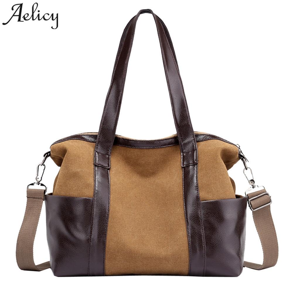 Girl Handbags Canvas Casual Tote Vintage Female Hobos Single Lady Shoulder Bag For Bolsa Feminina Dropshipping