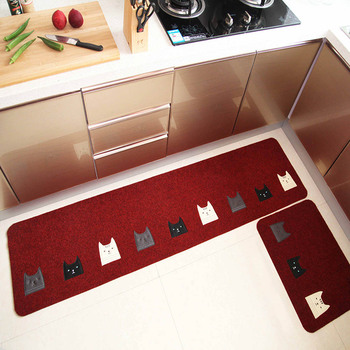Long and Water Absorbent Kitchen Mats and Anti Slip Area Rugs for Living Room Balcony and Bathroom