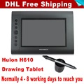 DHL Free Shipping Huion H610 Graphics Tablet Drawing Tablets Professional Signature Tablets Pen Tablet Black