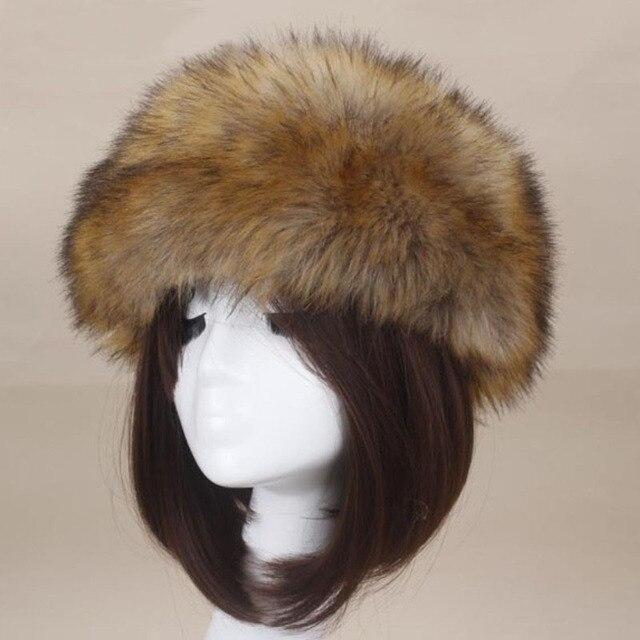 Lucky Leaf Damen Faux Fuchspelz Hut Winter Stirnband Cap Ohrensch/ützer Warmer