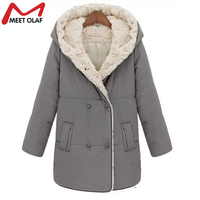 2017 Women Hooded Fleece Winter Coats and Jackets Female Double Breasted Long Coats Warm Parkas Snow Wear Middle Aged Lady YL320