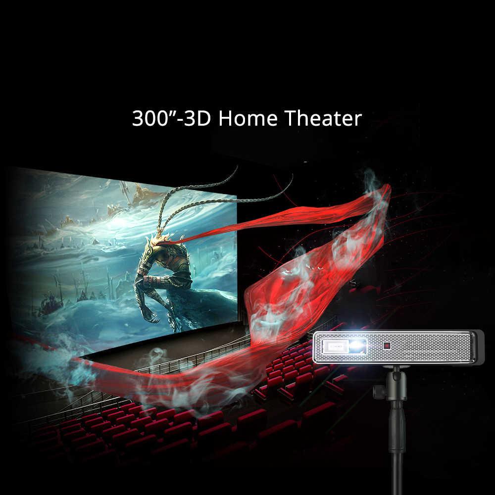 BYINTEK HD מיני 3D מקרן 4K R15, חכם Wifi אנדרואיד מקרן, נייד LED DLP מקרן עבור 300 אינץ מלא HD 4K קולנוע ביתי