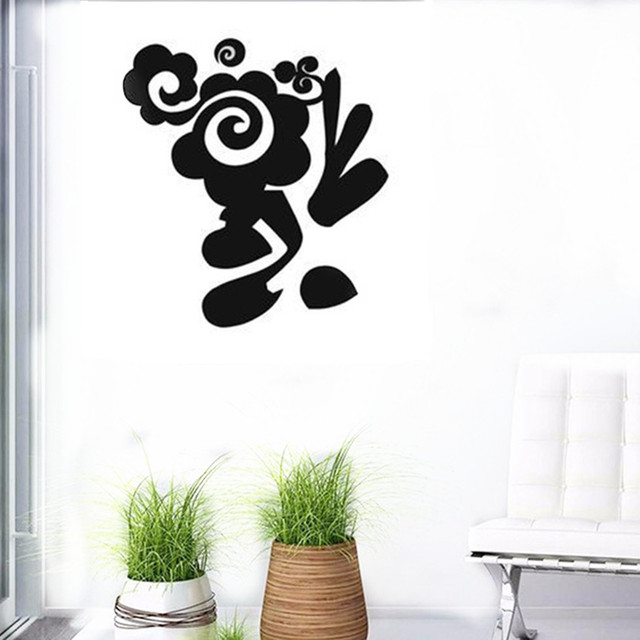 Cacar new design chinese character fu wall sticker luck series bblessing decals 3d vinyl wall art