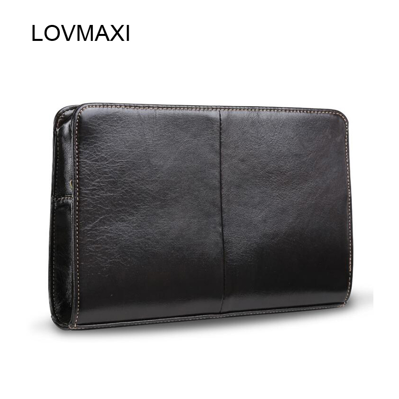 2018 New Genuine Cow Leather Men's Clutch Wallets  Long Style Wallet Male Clutches Bags Casual Black Coffee Business Wrist Bags 2016 famous brand new men business brown black clutch wallets bags male real leather high capacity long wallet purses handy bags