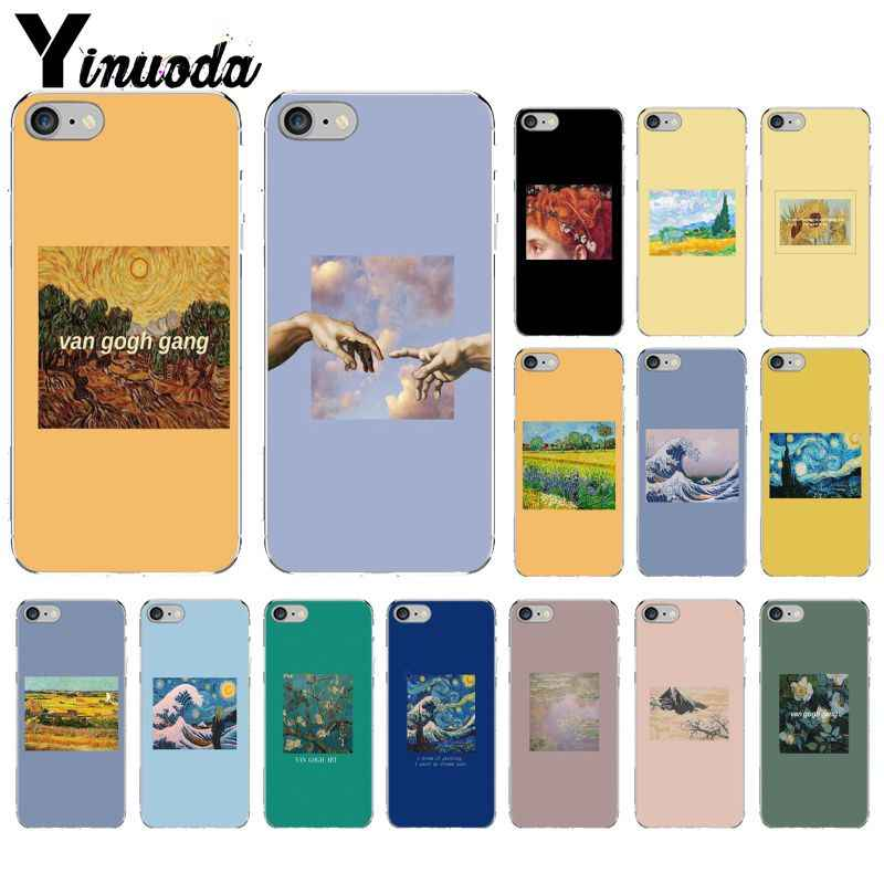 Yinuoda Van Gogh Art Oil Painting Transparent Soft Shell Phone Cover for iPhone X XS MAX  6 6s 7 7plus 8 8Plus 5 5S SE XR