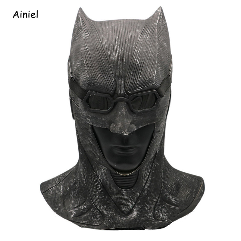 The Dark Knight Rises Batman Cosplay Costume Mask Helmet Superhero Funny Latex Full Face Masks Adult Prop Halloween Party Men