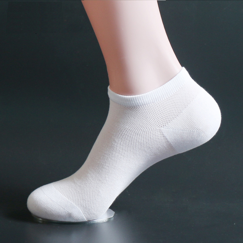 TOP Quality 2 Pairs/Lot Men's Low Cut Bamboo Fiber Mesh Ankle Socks Sneakers Invisible Meias Male Summer Thin Black/White Sokken