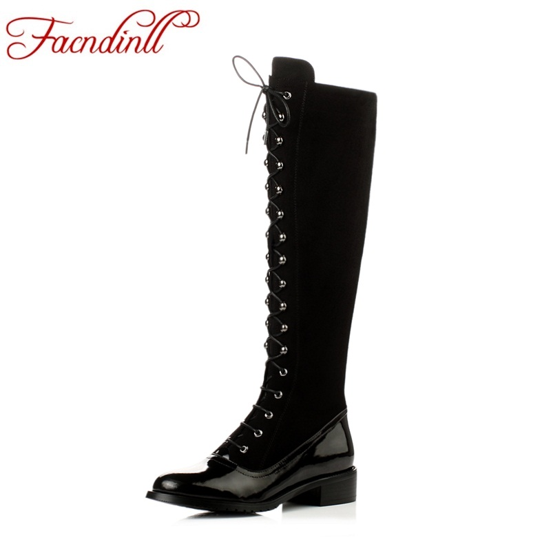 FACNDINLL fashion women knee high boots shoes new autumn winter black zipper shoes woman long boots genuine leather riding boots woman real leather boots 2015 new winter boots black apricot zipper fashion martin boots 34 39 comfortable women knee high boots