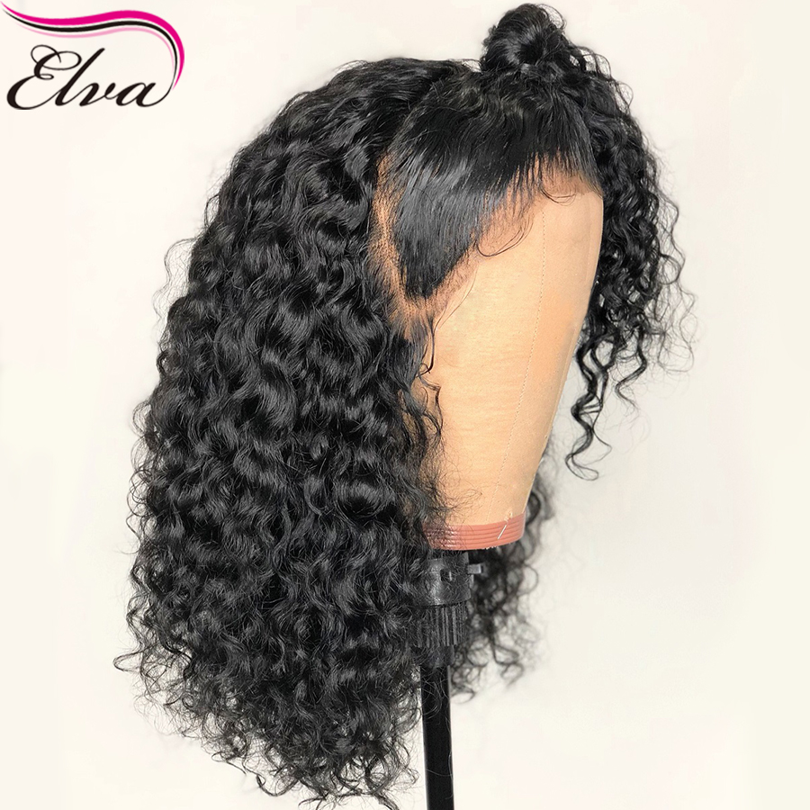 Curly Human Hair Wigs For Black Women Brazilian Glueless Full Lace Wigs Pre Plucked With Baby Hair Bleached Knots Elva Hair Wig