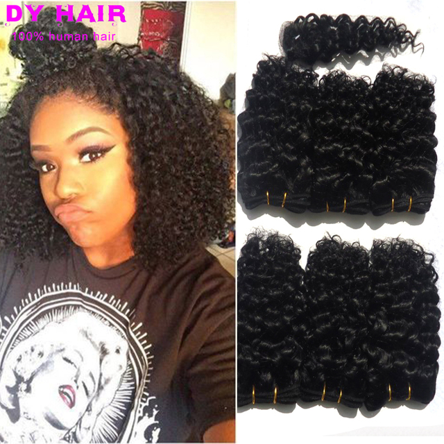 Sexy Women Short Hair Style Peruvian Virgin Afro Kinky Curly Hair