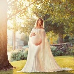 Le Paar 2018 Baby Dusche Kleid Mutterschaft Fotografie Requisiten Cape Rüschen Mutterschaft Kleider Schwangerschaft Fotografie Schießt Cape