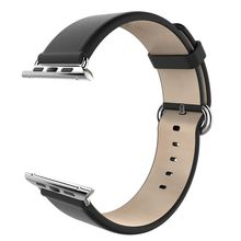 Goosuu 38mm 42mm apple watch band strap couro genuíno inteligente pulseira-série clássica para apple watch & esporte