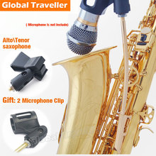 Eb Alto Saxophone Accompanying Wireless Performance Microphone Stand Clip Bb Tenor Saxophone Accompanying Microphone Stand Clip for juno tenor sax reeds cane for vandoren sax reeds classical pop saxophone reeds cane for tenor bb saxophone