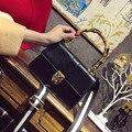 Женские Сумки 2017 Старинные Бамбук Ручка Сцепления Роскошные Сумки Женские Сумки Дизайнер сумки На Ремне, PU Кожа Тас Замок Bolsos Mujer