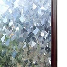 Luckyyj 3D Crystal Decoratieve Stained Glass Window Film Verwijderbare Zelfklevende Glas Sticker Statische Cling Vinyl Venster Papier