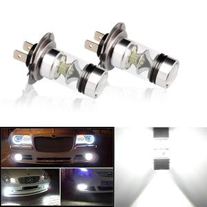 Image 5 - 2 sztuk światła przeciwmgielne samochodu H7 żarówka LED Super Bright 12V 24V 6000K biały 20 3030SMD jazdy reflektor do jazdy dziennej Auto Led H7 żarówki