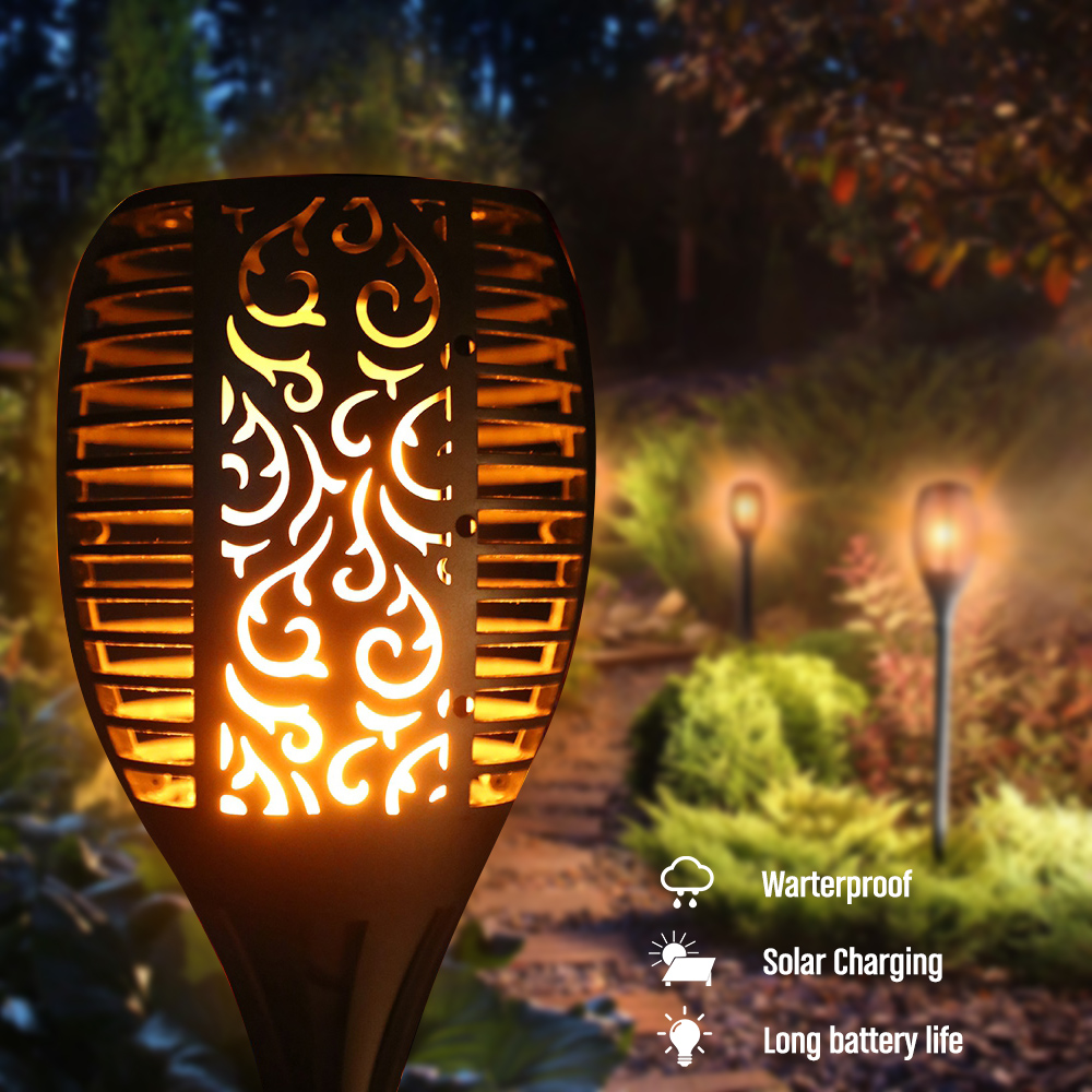 2018 New LED Solar Promotion Waterproof Flickering Flame Torch Light Outdoor Landscape Decoration Lighting Lamp