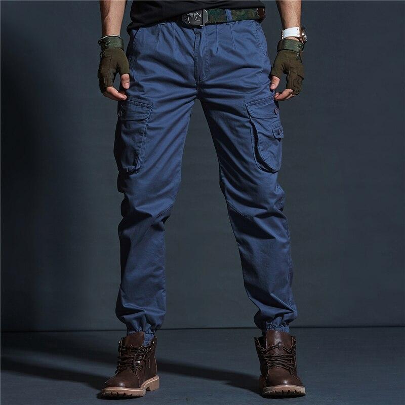 Harem Celana Kargo Pria Pria Biru Khaki Militer Taktis Celana Jeans Denim Celana Pantalon Tactico Hombre Sarouel Homme Fa14 Celana Kulit Aliexpress