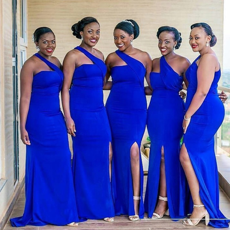 Royal Blue Bridesmaid Dress Elastic