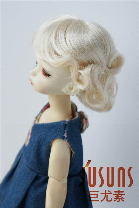 JD369 1/6 YOSD парики для шарнирных кукол модный кудрявый парик 6-7 дюймов BJD синтетический, мохеровый, для куклы парики аксессуары для кукол