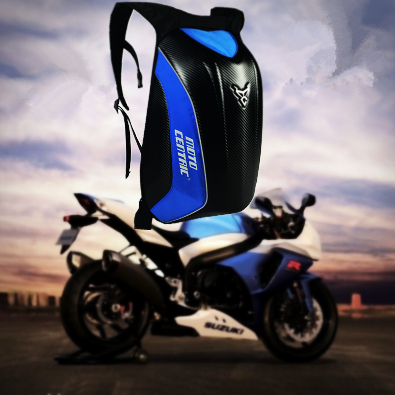 NEW Multifunctional Motorcycle Racing luggage backpack Storage Bag double-shoulder computer backpack Carbon Fiber  mochila moto bjmoto motorcycle scooter backpack expandable helmet bag saddle luggage tail bag saddlebags helmet moto side bag 3colors