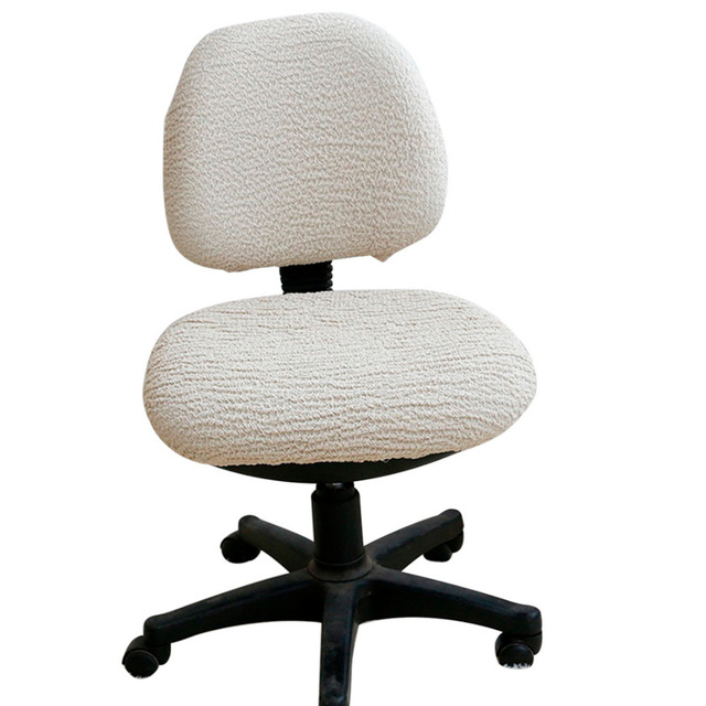 desk chair cover outdoor lounge cushions lowes computer office covers removable stretch seat dining covering rotating lift slipcover