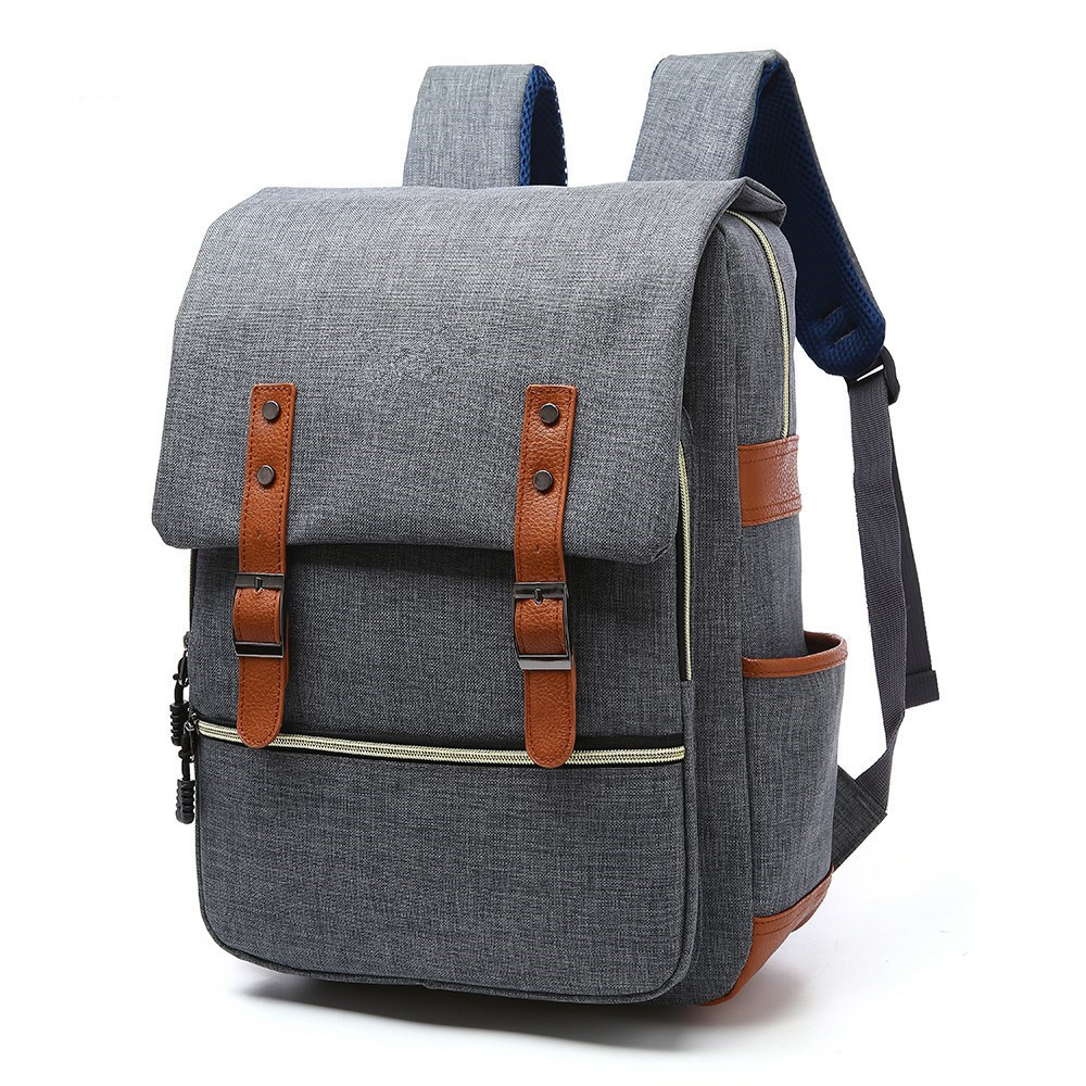Backpack For Men Vintage Laptop Backpack For Teenager Fashion Male Mochila Leisure Backpack school bags for boys teenage girls in Backpacks from Luggage Bags