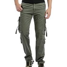 цена на Men Cargo Pants Loose Pockets Pants Man Casual Trousers Stretch Flexible Tactical Male Combat Trousers Militar Army Pants Cotton