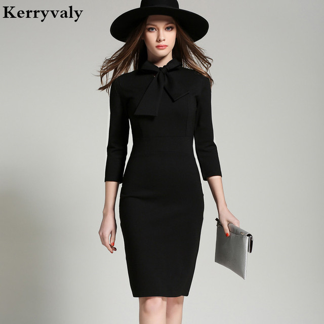 Aliexpress Com Buy Korean Black Office Dress Women Dress