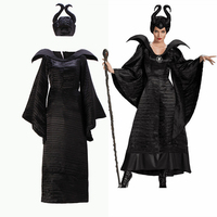 Horror Costumes Maleficent Costume Witch Dress Outfit Demon Scary Witch Costumes Women Halloween Costumes for Women Plus Size